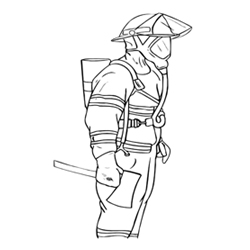 Colour the Fire Man