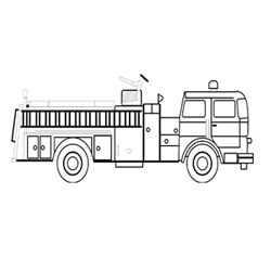 Colour the Fire Truck